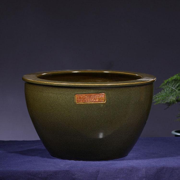 大号传统景德镇茶末釉陶瓷器腌菜缸肉缸