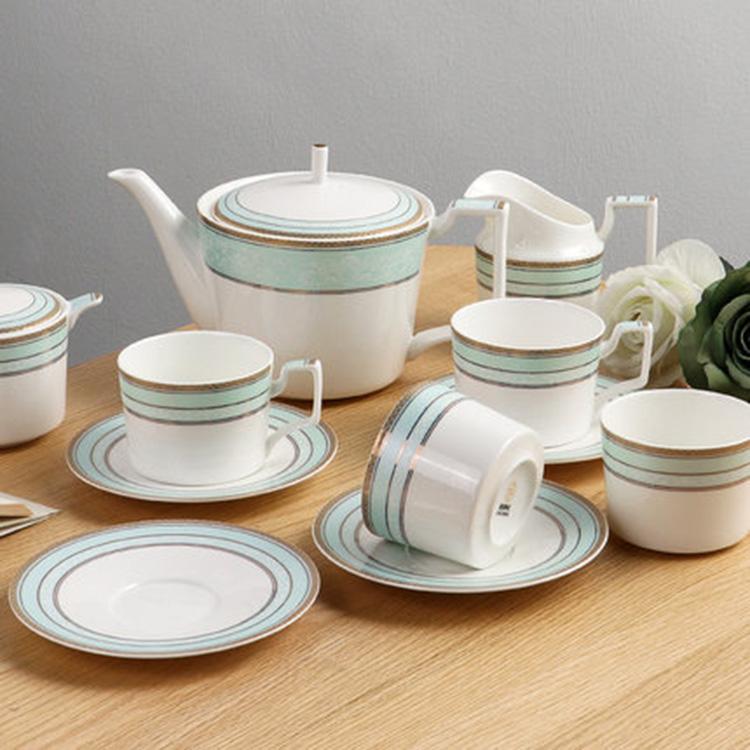 骨瓷咖啡杯套装欧式花茶杯陶瓷奢华英式下午茶杯套具咖啡具带托盘