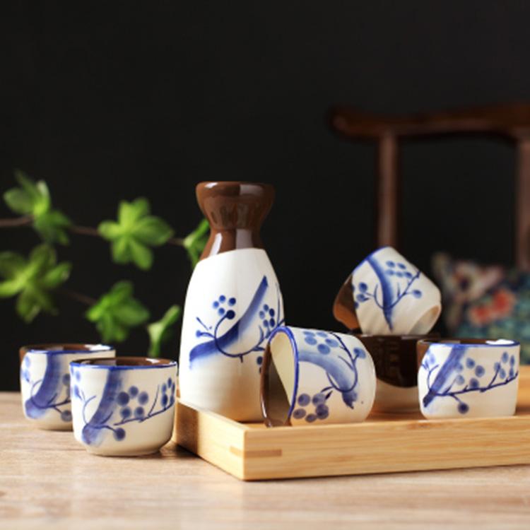 景德镇日式陶瓷酒具礼盒套装