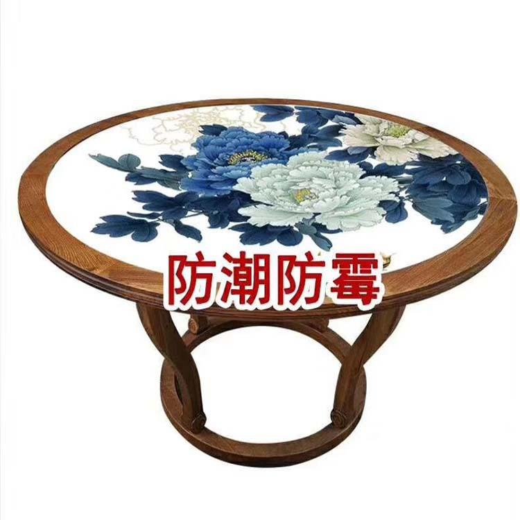 新款陶瓷大号户外景德镇桌面套装手绘瓷桌面庭院阳台桌椅桌面厂家
