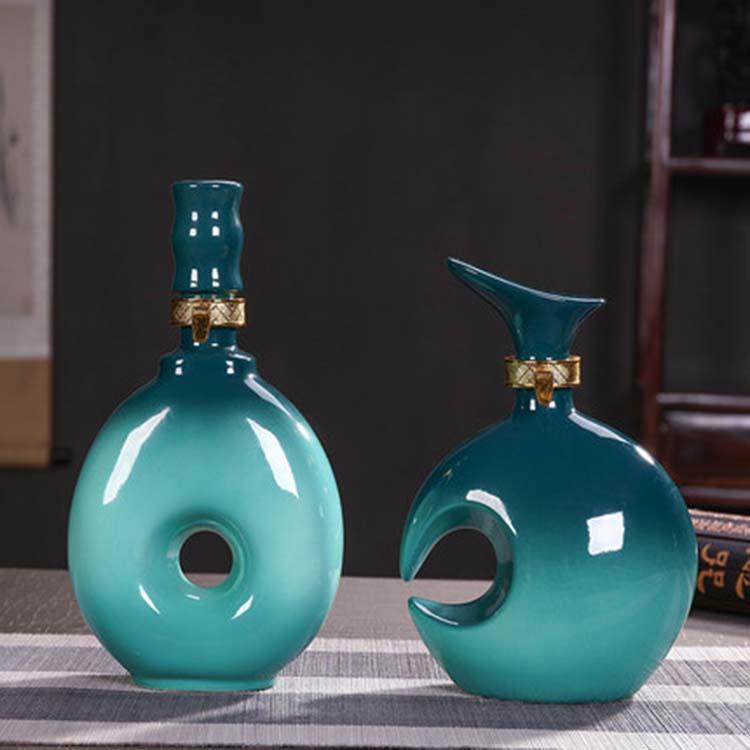 景德镇陶瓷一斤装酒瓶