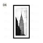 黑白陶瓷装饰画客厅风景照片墙