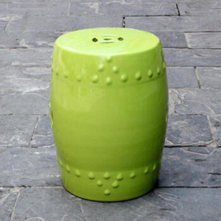 新中式陶瓷鼓凳轻奢圆凳古筝琴凳陶瓷凳坐墩手绘换鞋凳子直销