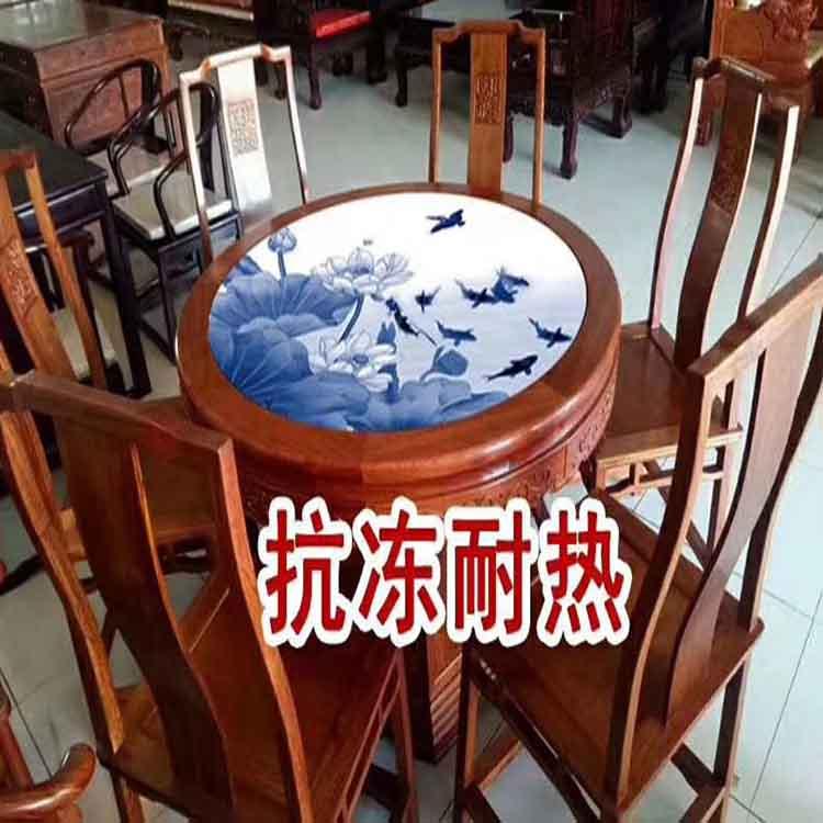 景德镇陶瓷桌面庭院摆设桌凳凉桌面加大加厚瓷器桌面手绘丰收