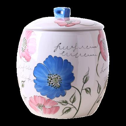 欧式陶瓷米桶10kg米缸5kg带盖密封储物罐家用防潮防虫装饰摆件