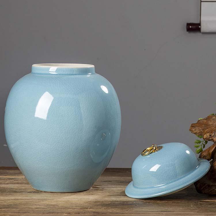 陶瓷米缸米桶储米箱10kg20斤装带盖密封储物罐家用防潮防虫面粉