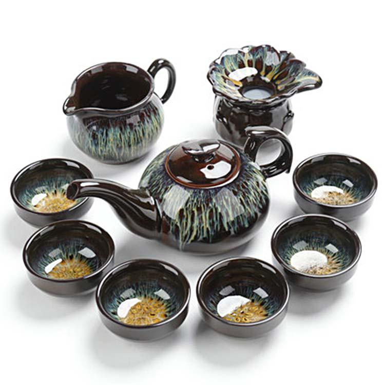 景德镇陶瓷目建盏茶具套装
