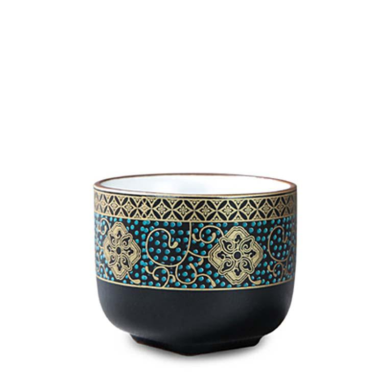 景德镇手绘粉彩品茗杯纯手工白瓷主人杯单杯小茶杯陶瓷茶盏