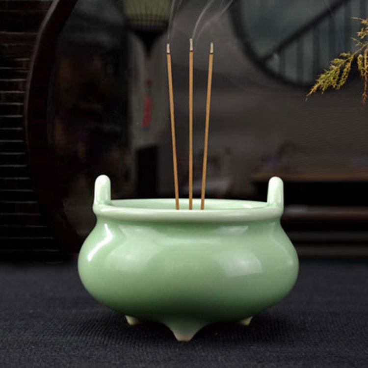 香薰炉供佛陶瓷佛具用品仿古线香家用室内室外供奉白瓷摆件