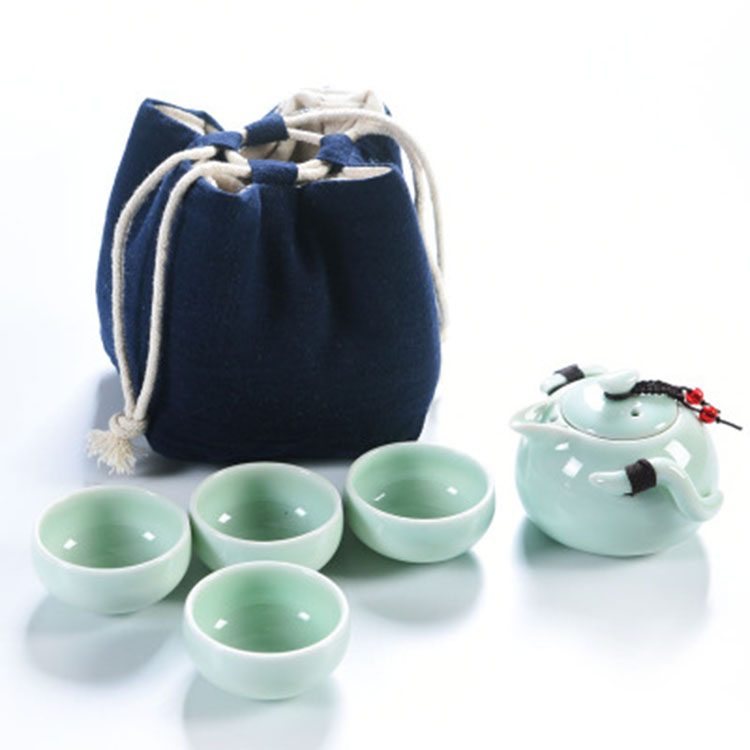 陶瓷茶罐茶壶套装定制礼品一壶三杯便携式快客杯旅行功夫茶具