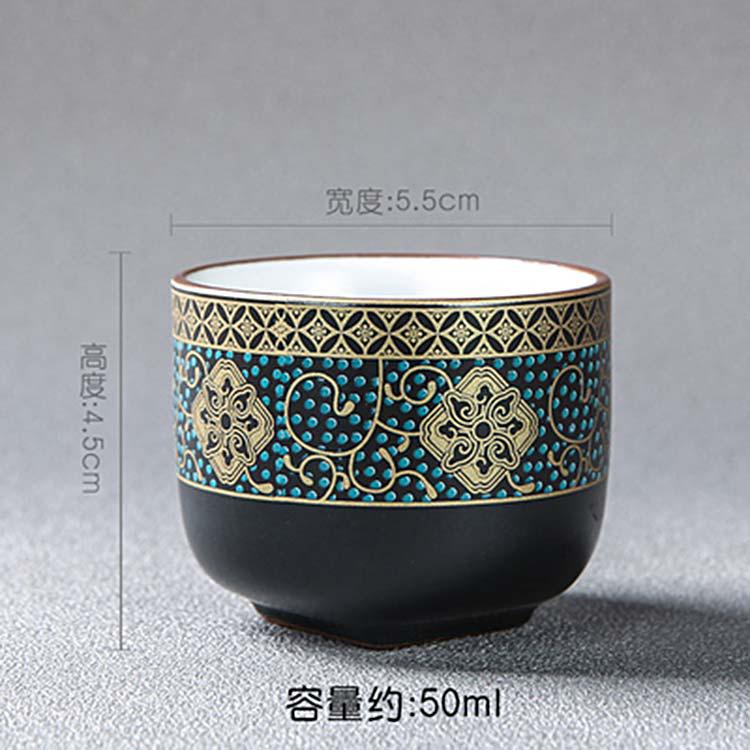 景德镇手绘大明成化斗彩鸡缸杯品茗杯主人功夫茶具茶杯
