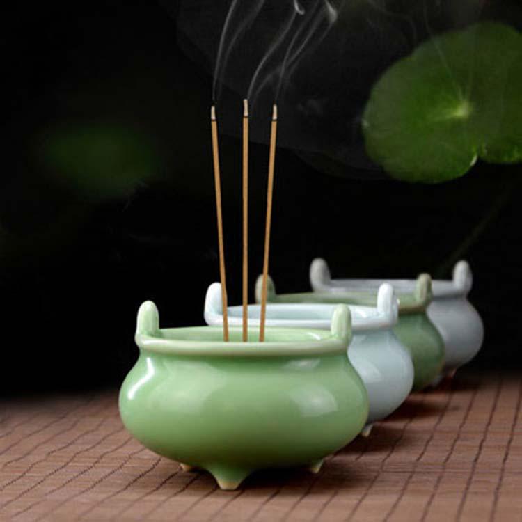 陶瓷香炉仿古盘香炉创意线香炉家用室内供佛居室沉香炉