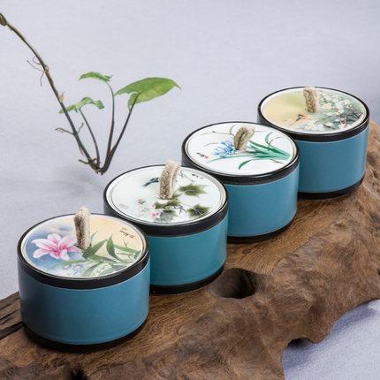罐子带盖茶叶罐便携储罐随身 防潮收纳储茶罐便携式储存罐茶叶桶