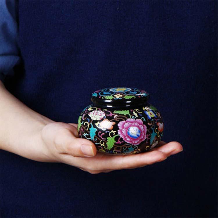 青花瓷存茶罐茶叶罐大号普洱一斤礼盒 装散茶罐防潮储茶罐高档定制