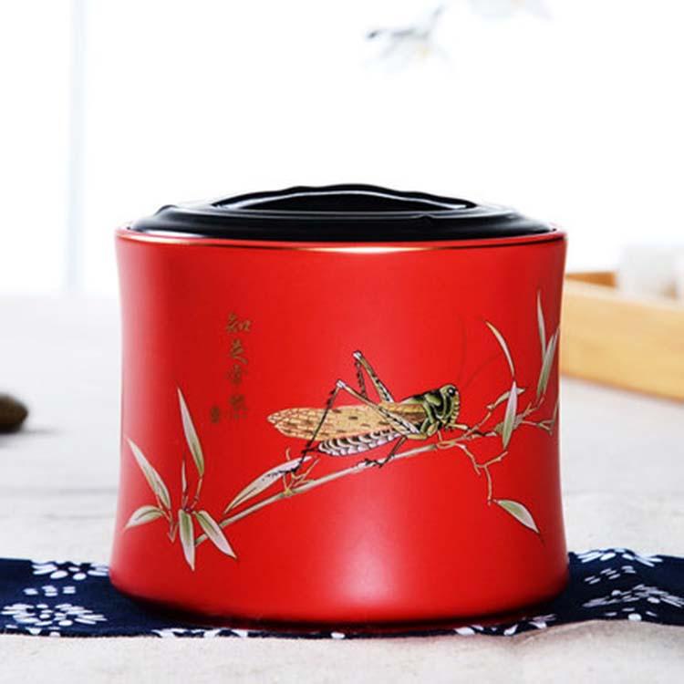 陶瓷茶叶罐便携小号密封罐200g 中国风存储罐半斤防潮装茶叶罐家用