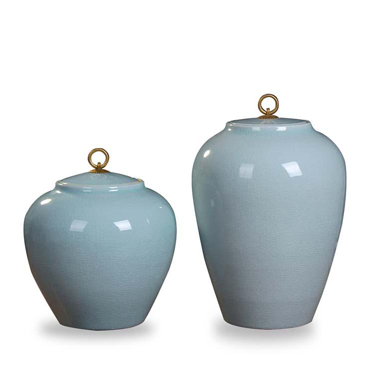 陶瓷米缸带盖 厨房密封面粉罐防潮防虫 储米箱 家用米桶20斤装