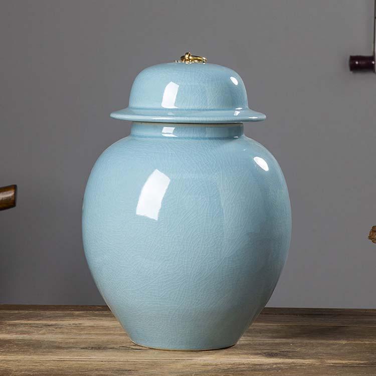 景德镇陶瓷米缸米桶 米箱储物罐 密封罐防潮带盖装米桶面粉缸摆件