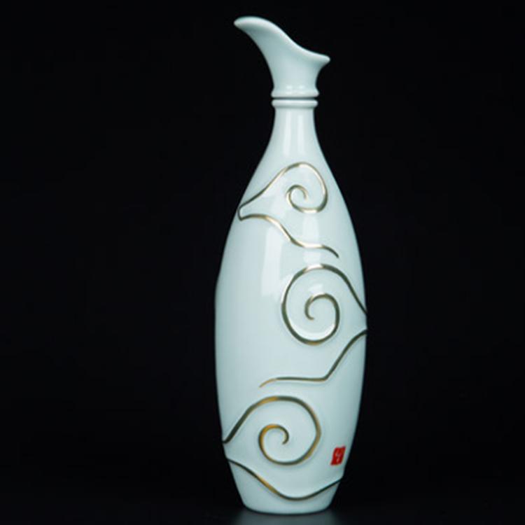 景德镇陶瓷描金酒瓶