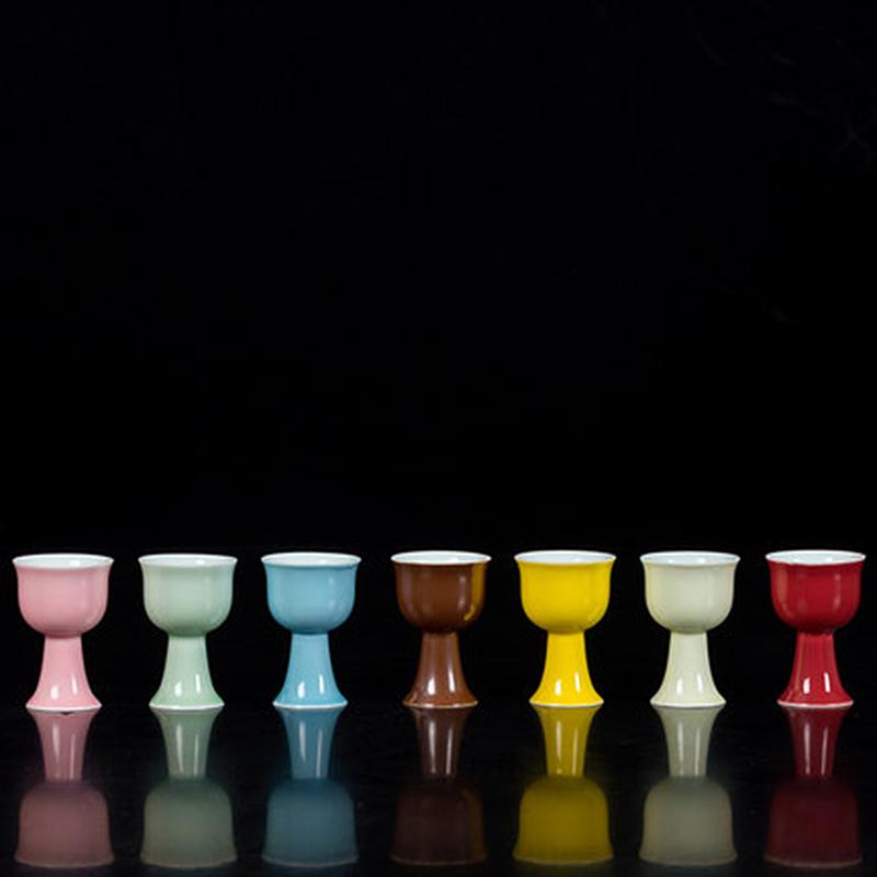 景德镇青花陶瓷家用二钱小酒杯