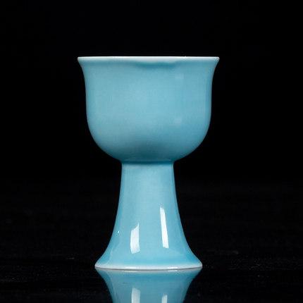 陶瓷高脚杯白酒酒清酒杯酒具