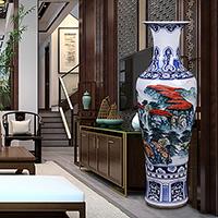 中式古典1.6米艺术花瓶摆件