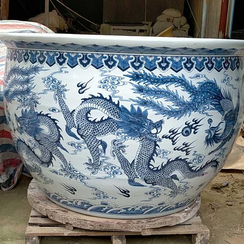 狮头仿古陶瓷大缸
