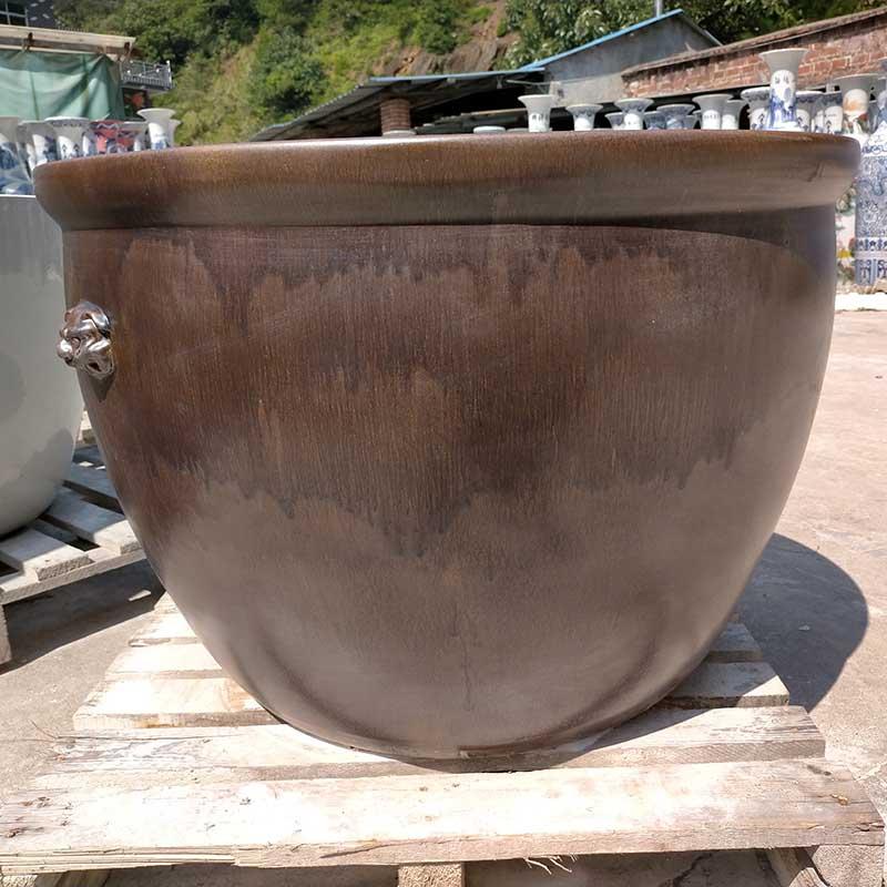 景德镇窑变釉缸陶瓷缸