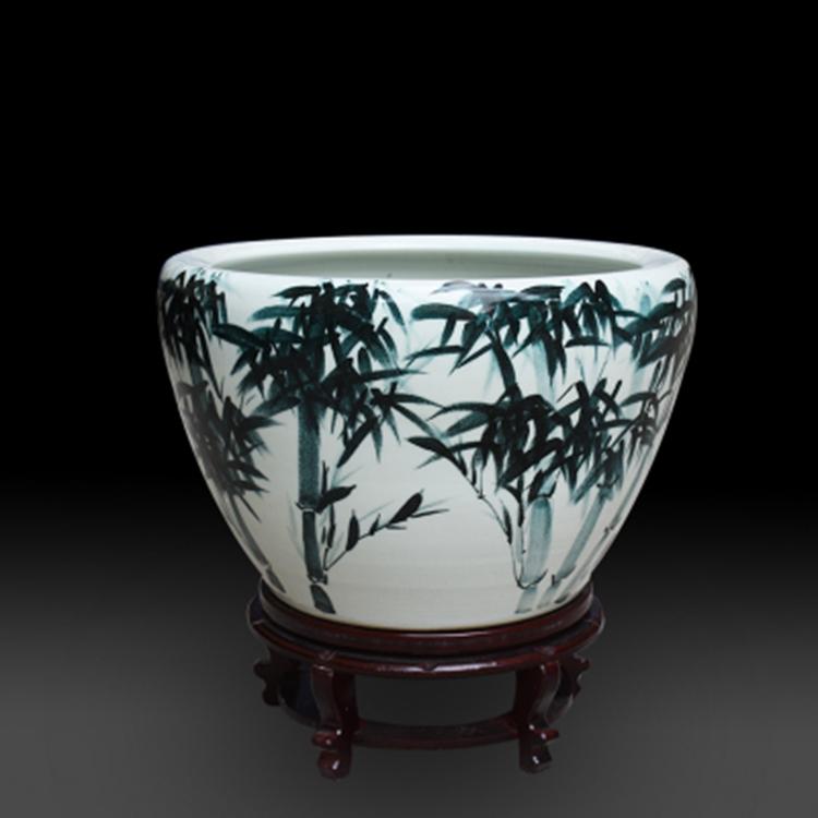 景德镇粉彩陶瓷鱼缸
