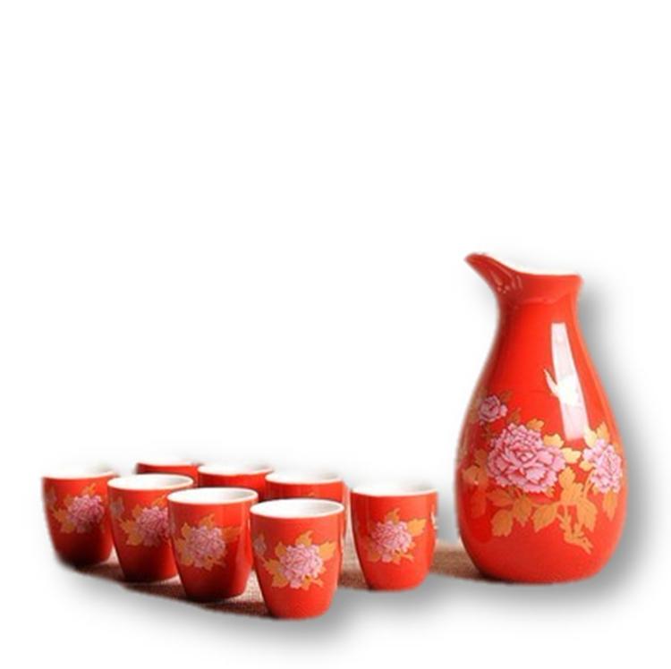 景德镇青瓷酒壶