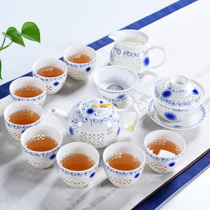 白瓷功夫茶具盖碗