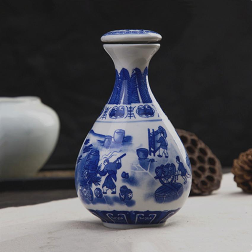景德镇陶瓷1斤装酒瓶