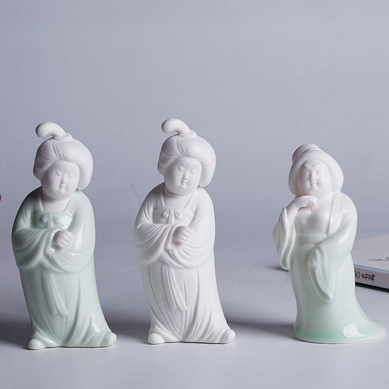 中式家居陶瓷桌面玄关装饰品