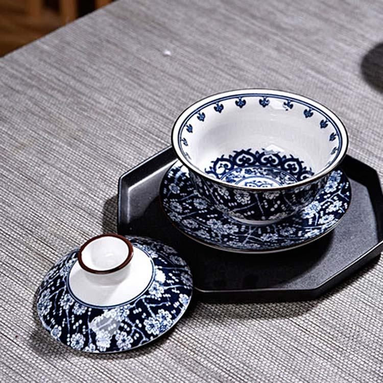 中式陶瓷盖碗敬茶碗