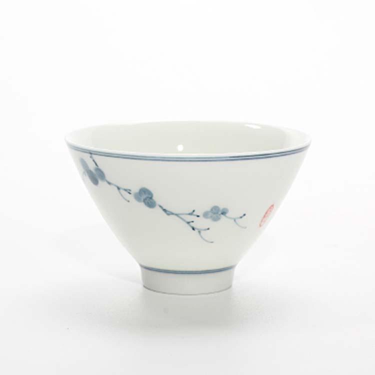 景德镇陶瓷山水手绘小茶杯