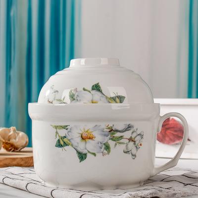 个性定制带把手陶瓷保鲜碗
