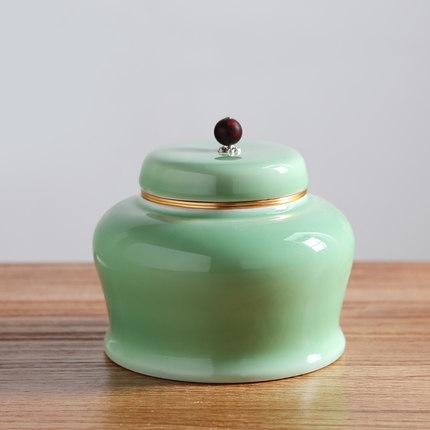 陶瓷骨瓷礼品茶叶罐套装
