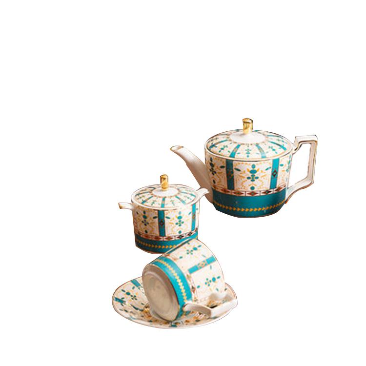 创意金边陶瓷咖啡杯碟