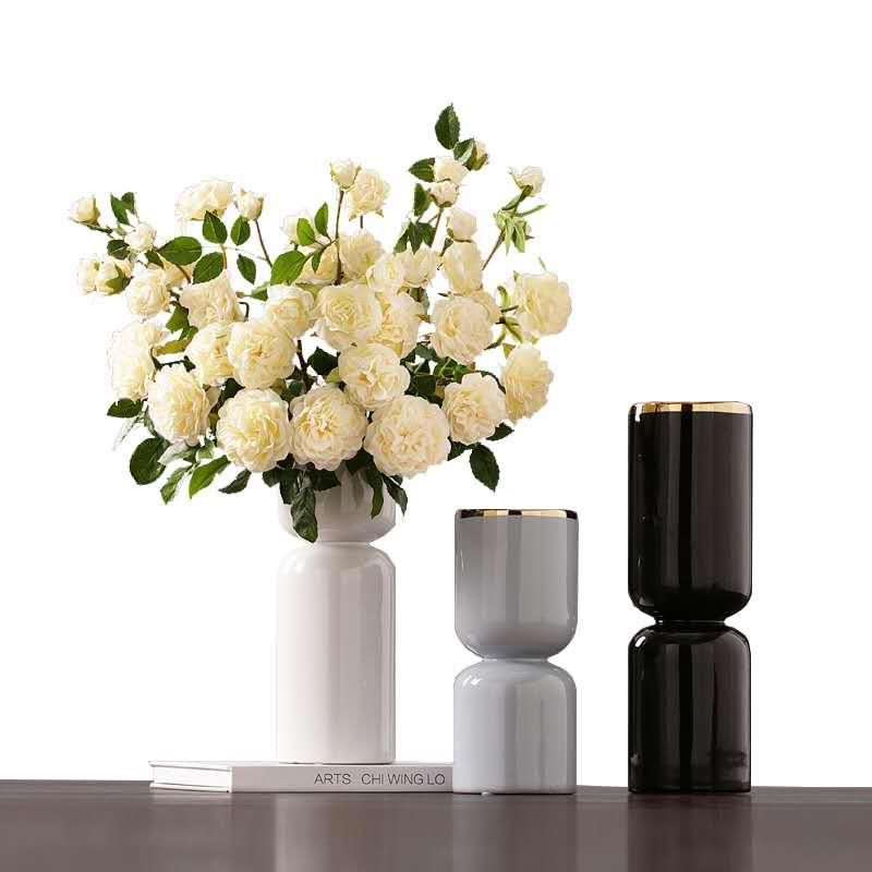 景德镇创意北欧陶瓷桌面花瓶摆件