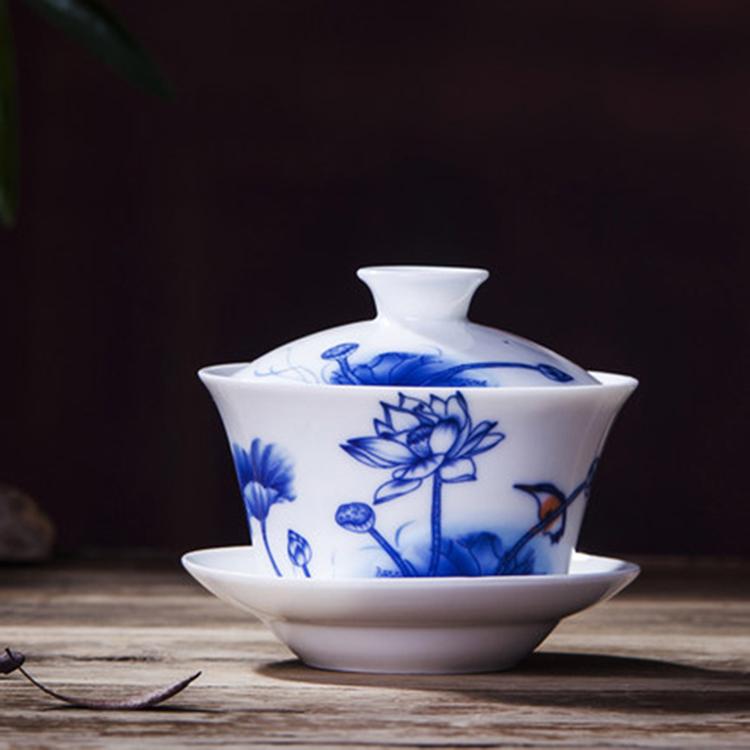 景德镇青花瓷盖碗