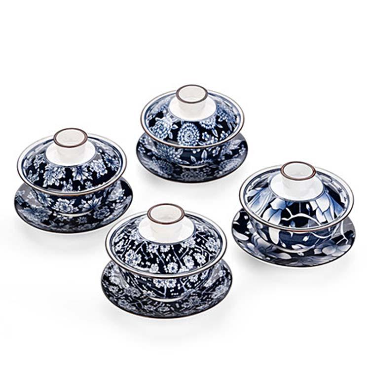 创意陶瓷盖碗茶杯