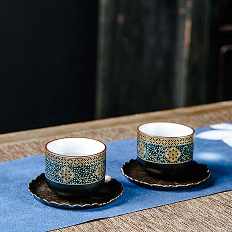 中式珐琅彩陶瓷茶杯
