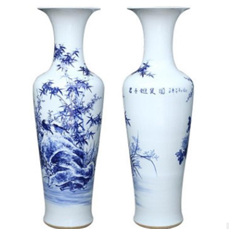 景德镇陶瓷青花瓷落地大花瓶