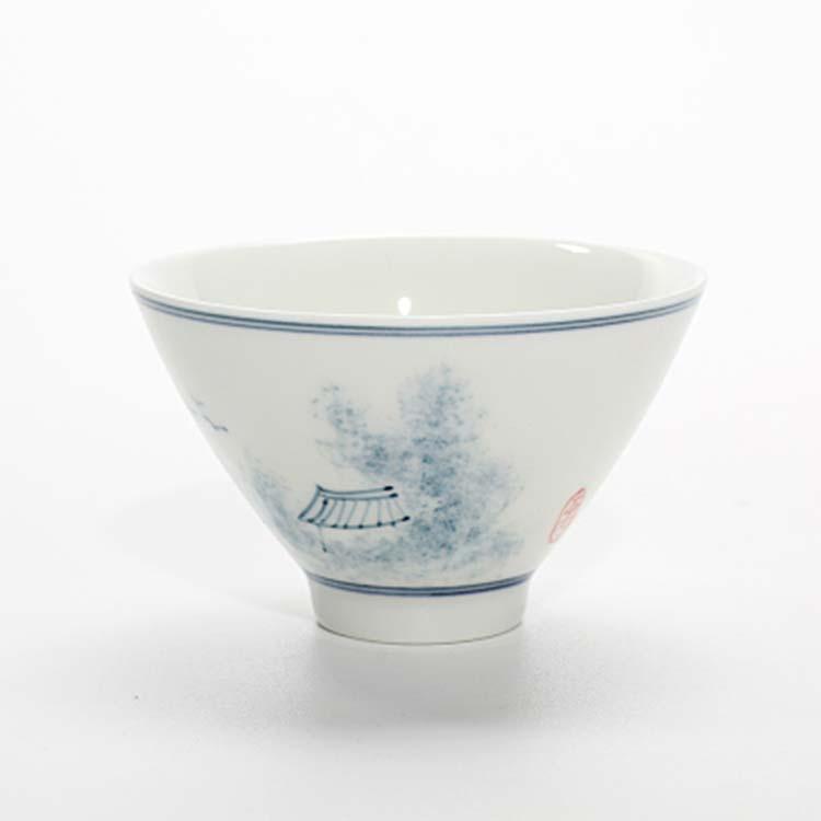 景德镇青花瓷品茗杯