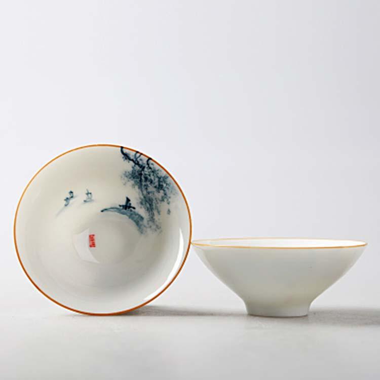 景德镇手绘陶瓷茶杯