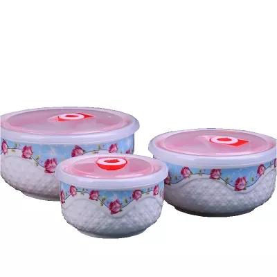 陶瓷保鲜碗三件套