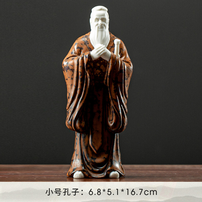 景德镇陶瓷孔夫子雕塑像