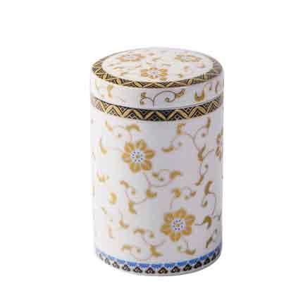 定制普洱花绿茶香粉密封存储物罐