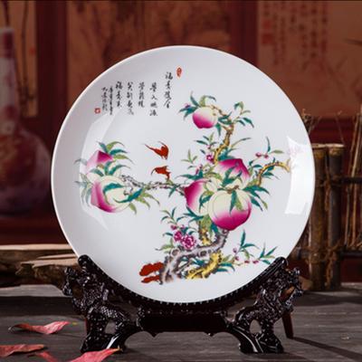 陶瓷装饰盘摆盘