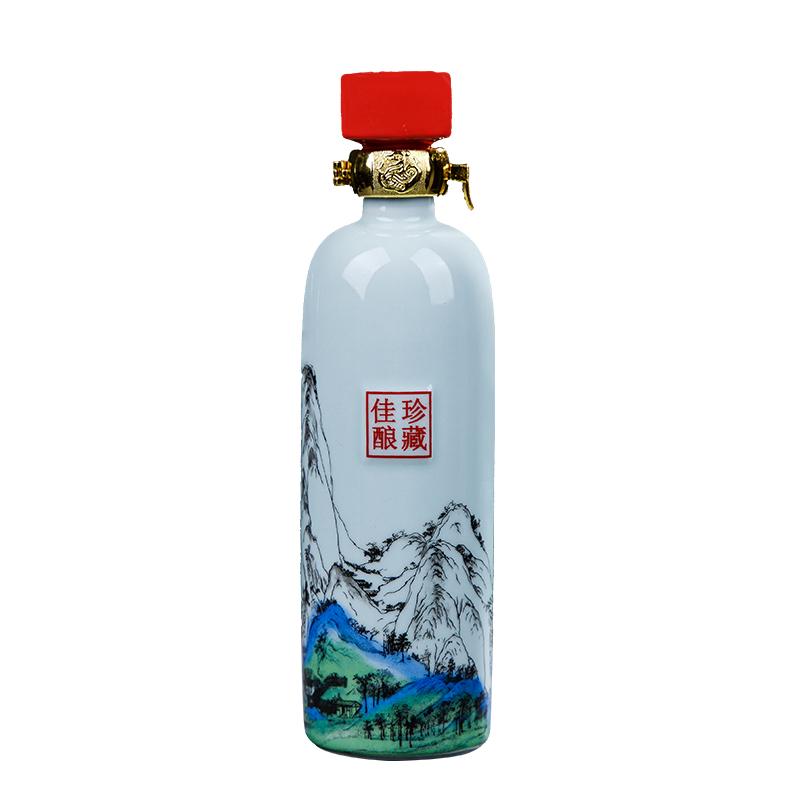 复古陶瓷空酒瓶1斤装