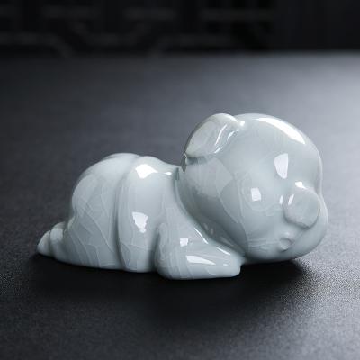 景德镇陶瓷雕塑瓷猪摆件